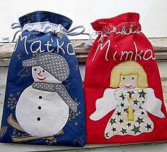 Úžitkový textil - Mikulášske vrecúška na želanie - 12441547_