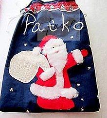 Úžitkový textil - Mikulášske vrecúška s menom - 12441550_