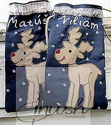 Úžitkový textil - Mikulášske vrecúška sobíkové s menom - 12441560_