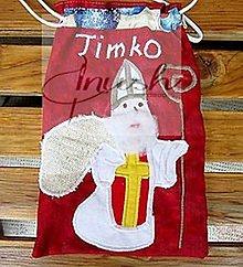 Úžitkový textil - Sv. Mikuláš -  vrecúška s menom - 12441563_