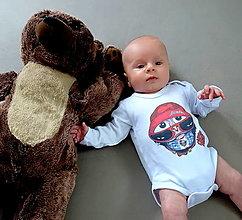 Detské oblečenie - Detské bavlnené body dlhý rukáv - OčiPuči Metal Baby Coboo - 12448020_