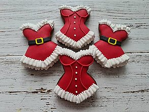 Dekorácie - Sexy vianočný korzet :) - 12446182_
