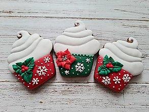 Dekorácie - Vianočný muffin - 12446391_