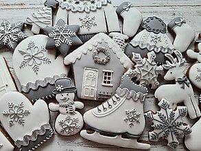 """Dekorácie - Vianočná sada """" Grey Christmas"""" - 12446480_"""