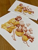 - Čas na kávu - Print | Botanická ilustrácia (A5) - 12448281_
