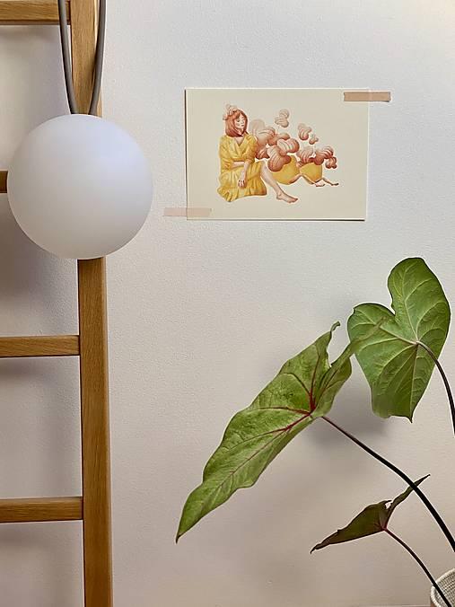 Grafika - Čas na kávu - Print | Botanická ilustrácia - 12448286_