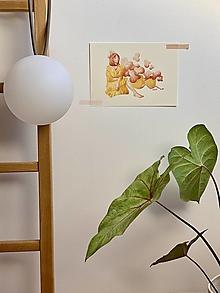 Grafika - Čas na kávu - Print   Botanická ilustrácia - 12448286_