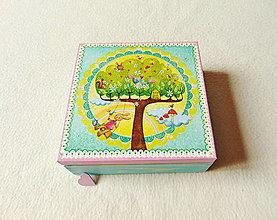 Krabičky - Drevená krabička Rozprávková - 12444811_