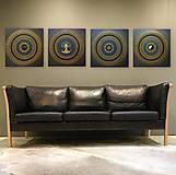 Obrazy - Mandala NEKONEČNÁ LÁSKA A ŠŤASTIE ♥ (gold-black) 50 x 50 (60 x 60 cm) - 12448345_
