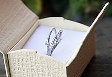 Prstene - Vetvičkové snubné strieborné - 12446734_