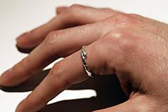 Prstene - Vetvičkové snubné strieborné - 12446735_
