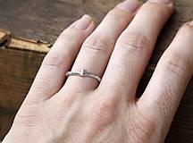 Prstene - Vetvičkové snubné strieborné - 12446737_