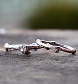 Prstene - Vetvičkové snubné strieborné - 12446738_