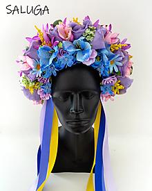 Ozdoby do vlasov - Kvetinová parta - čelenka - folklórna - červená - 12444908_