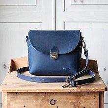 Kabelky - Kožená kabelka *crazy blue* No.1 - 12444856_