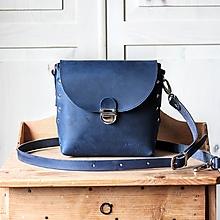 Kabelky - Kožená kabelka *crazy blue* No.2 - 12444874_