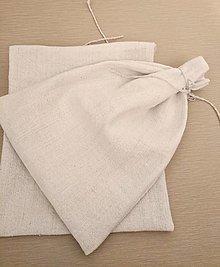 Úžitkový textil - Vrecko z konopného plátna - 12447442_