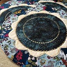 Úžitkový textil - prestierania modré - 12446100_