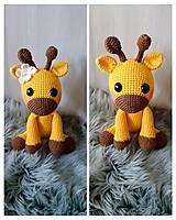 Hračky - Háčkovaná žirafka žltá - 12453836_