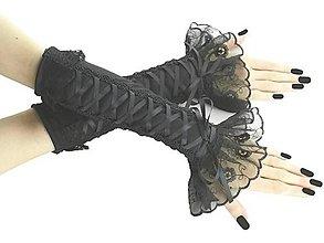 Rukavice - Spoločenské čierne dámské rukavice  0190 - 12450666_