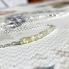 Náhrdelníky - Ethiopian Welo Opal Necklace Ag925 / Jemný strieborný náhrdelník s opálmi - 12451006_