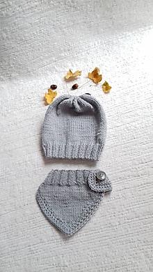Detské čiapky - Čiapka so zapínacím nákrčníkom - 12449730_