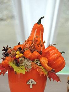 Dekorácie - Jesenná dekorácia, jesenný aranžmán - 12450584_