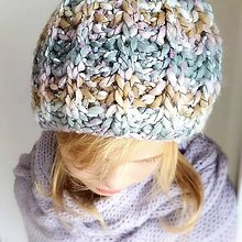 Detské čiapky - detská čiapka na zimu MILENÁ - 12452635_