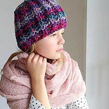 Detské čiapky - detská čiapka na zimu VESELÁ - 12452651_