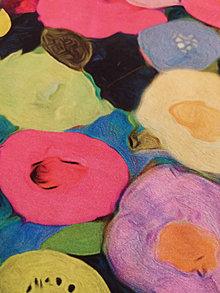 Šály - Nákrčník farebné maľované kvety - 12451836_