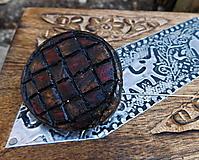 drevená javorová vintage brošňa geometric