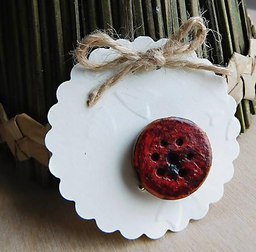 drevená javorová vintage brošňa kvietok