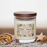Svietidlá a sviečky - Sviečka zo 100% sójového vosku - Sviatočný brusnicový punč - 12449326_