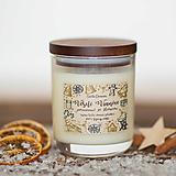 Svietidlá a sviečky - Sviečka zo 100% sójového vosku - Pomaranč so škoricou - 12451031_