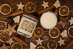 Svietidlá a sviečky - Sviečka zo 100% sójového vosku - Pomaranč so škoricou - 12451033_