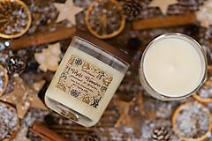 Svietidlá a sviečky - Sviečka zo 100% sójového vosku - Pomaranč so škoricou - 12451039_