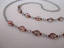 Iné šperky - Retiazka na okuliare - medeno/priehľadná - chirurgická oceľ - 12453161_