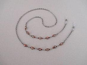 Iné šperky - Retiazka na okuliare - medeno/priehľadná - chirurgická oceľ - 12453163_