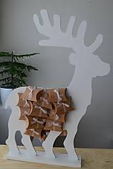 Dekorácie - Adventný kalendár biely jeleň - 12450954_