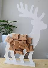 Dekorácie - Adventný kalendár biely jeleň - 12450956_