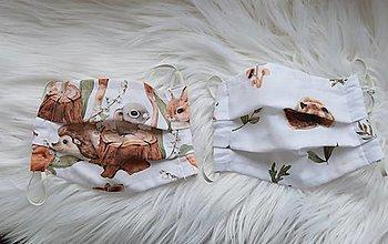 Rúška - Detské  rúško -zvieratká - 12449259_