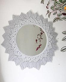Zrkadlá - Makramé zrkadlo // Aloe - 12450302_