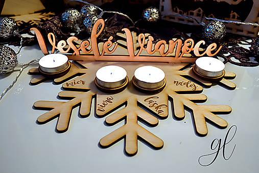 Drevený adventný veniec Veselé Vianoce (klassic)