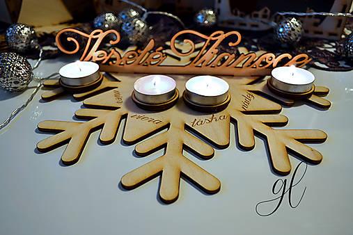 Drevený adventný veniec Veselé Vianoce (elegant)