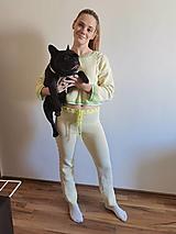 Nohavice - Pletená tepláková súprava - 12453442_