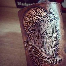 Náramky - Kožený náramok #WOLF - 12450051_