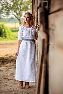 Šaty - Ľanové šaty Mira - 12455010_