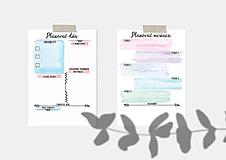 Papiernictvo - Plánovače - denný, týždenný a mesačný (Náplň do diára) PDF - 12454722_