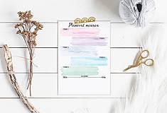 Papiernictvo - Plánovače - denný, týždenný a mesačný (Náplň do diára) PDF - 12454776_
