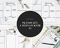 Papiernictvo - Plánovače - denný, týždenný + knihy na prečítanie (Náplň do diára) PDF - 12458884_